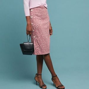 Anthropologie Leopard Pencil Skirt